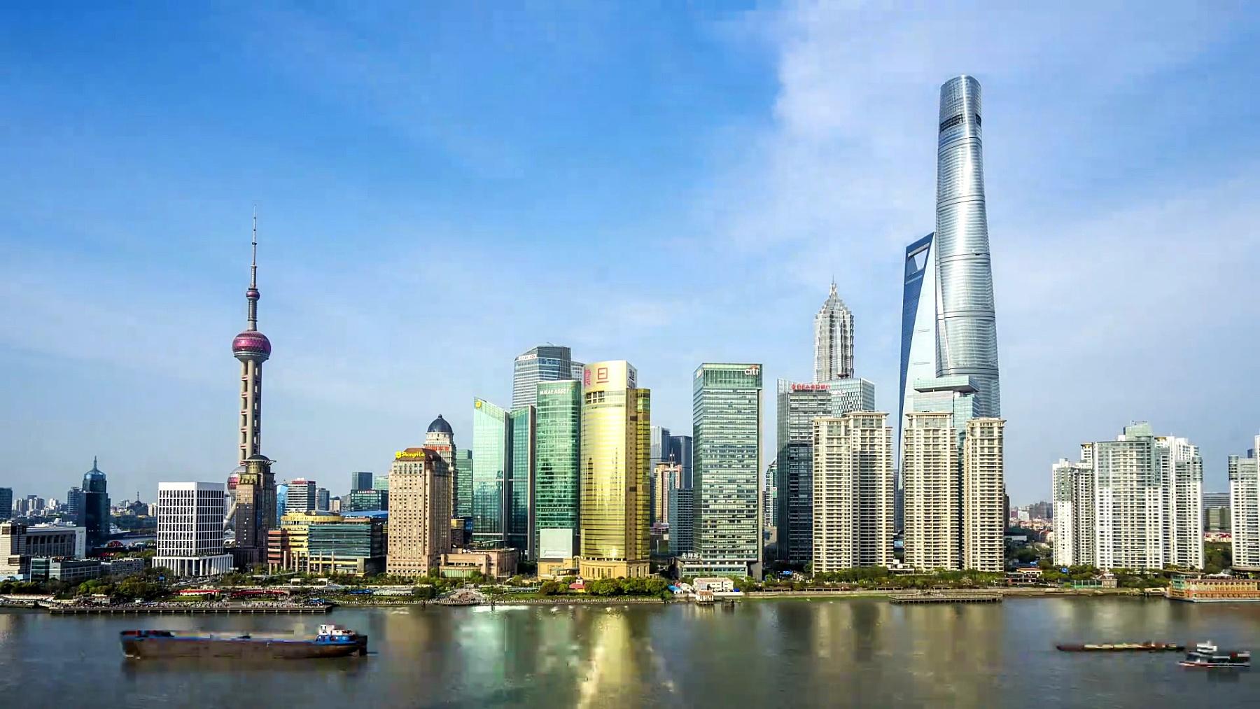 延时摄影-上海天际线