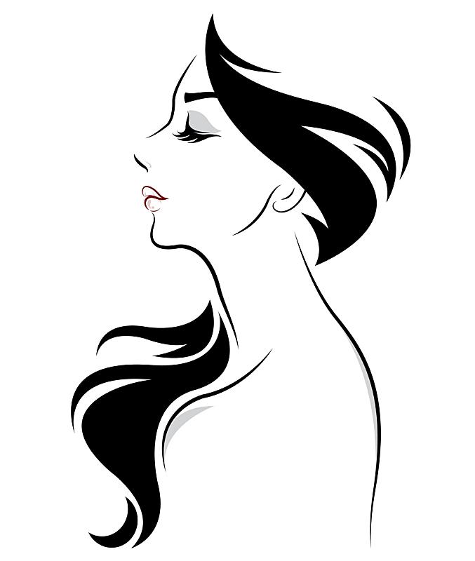 女人,品牌名称,发型,长发,计算机图标,头发,华丽的,现代,自然美,黑发