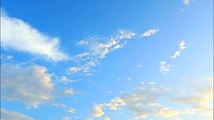 延时摄影,天空上方移动的云