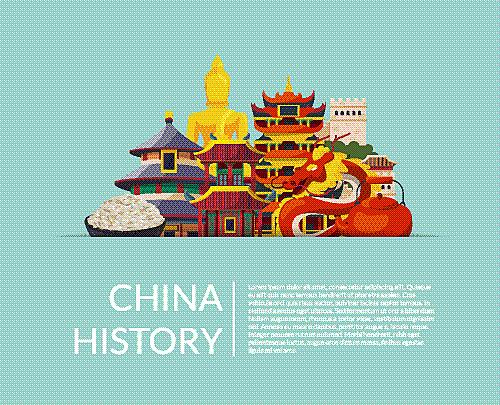 堆,扁平化设计,天气,东方人,纸,国内著名景点,传统,旅行