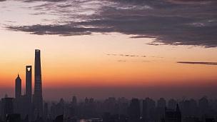 上海天际线鸟瞰