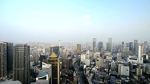 现代城市夜景与天际线