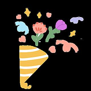 可爱手绘生日主题-撒花
