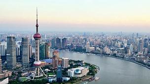 上海陆家嘴和外滩城市景观,中国