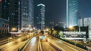 夜间T/L自上海陆家嘴金融区