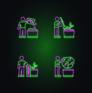 绘画插图,标志,园艺,霓虹灯,矢量,室内,计算机图标,耕犁,盆栽,图像特效