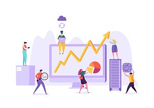 商务,市场营销,人,数据,概念,金融,插画,图表,服务