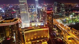 延时-北京天际线