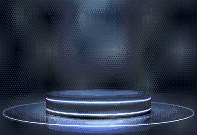 舞台,霓虹灯,圆形,无人,指挥台,底座,商品,图像,照亮,写实