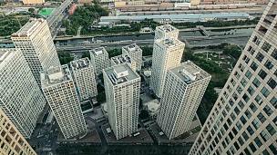 北京中央商务区T/L PAN高角视图
