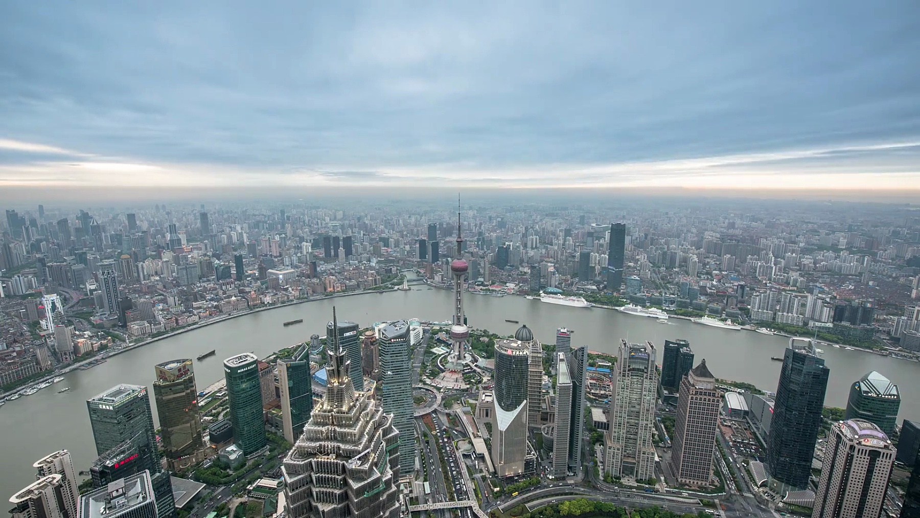 上海城市风光之夜, ,延时摄影