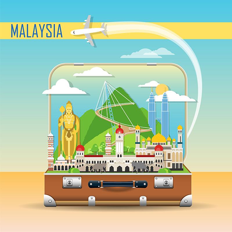 手提箱,著名景点,背景,非都市风光,地形,概念,旅途,旅行,探险,旅游