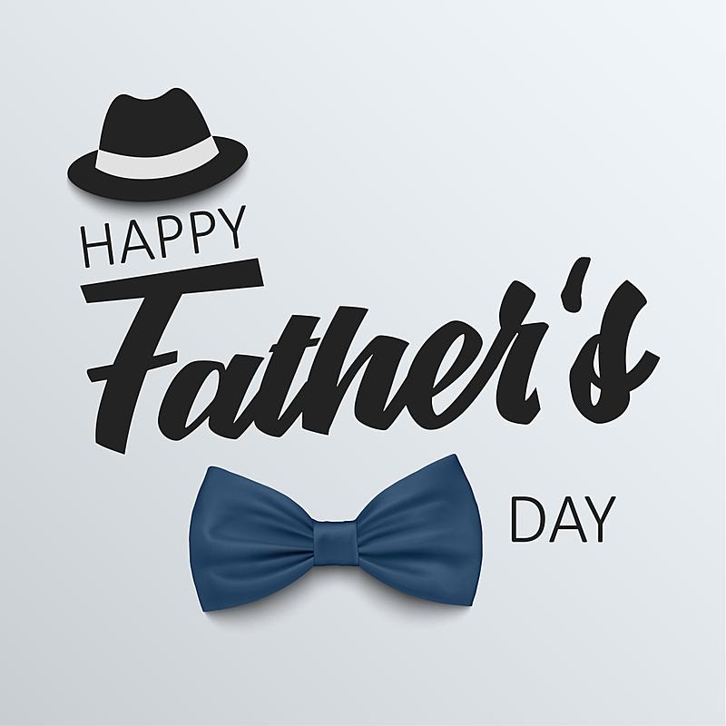 父亲节,模板,领结,帽子,父亲,50年节,爱,沟通,问候