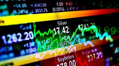 抽象的背景股票指数和图表