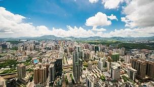 中国深圳城市风光延时摄影