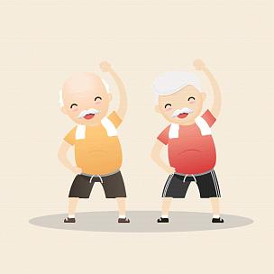 概念,老年人,运动,家庭,泰国,模板,女人,中老年人,休闲活动,绘画插图