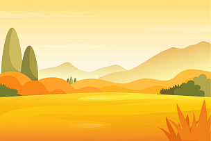 autumn meadow and mountains landscape