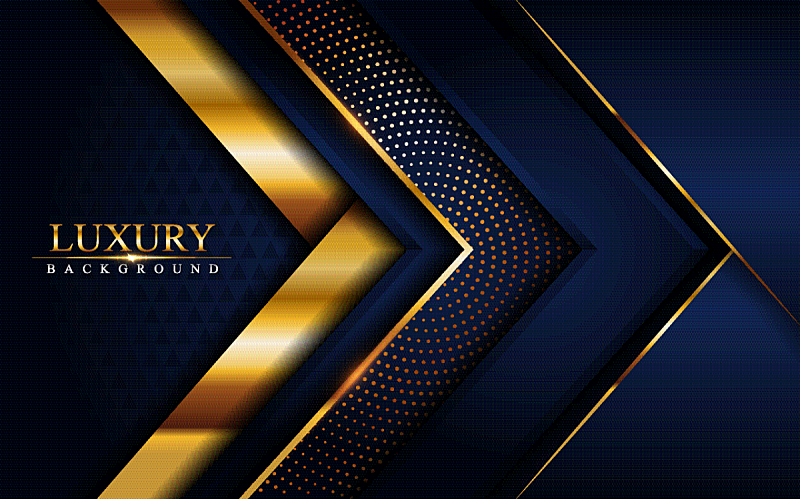 luxury navy blue background with golden lines