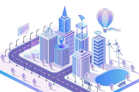 概念,现代,智慧城市,城市,三维图形,路,建筑,未来,技术,图像