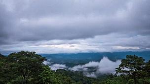 晨雾和云的延时摄影