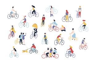 骑自行车,人,市区路,运动,狗,女人,自行车,儿童,户外,收集