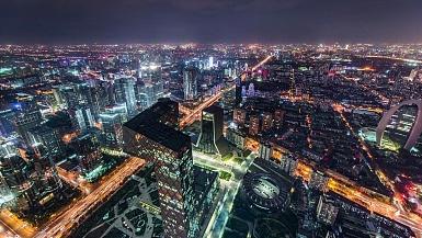 T/L WS HA ZI北京城市天际线与美妙的城市风光