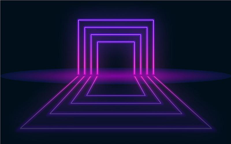 未来,抽象,背景,霓虹灯,门,活力,事件,几何形状,技术,壁纸