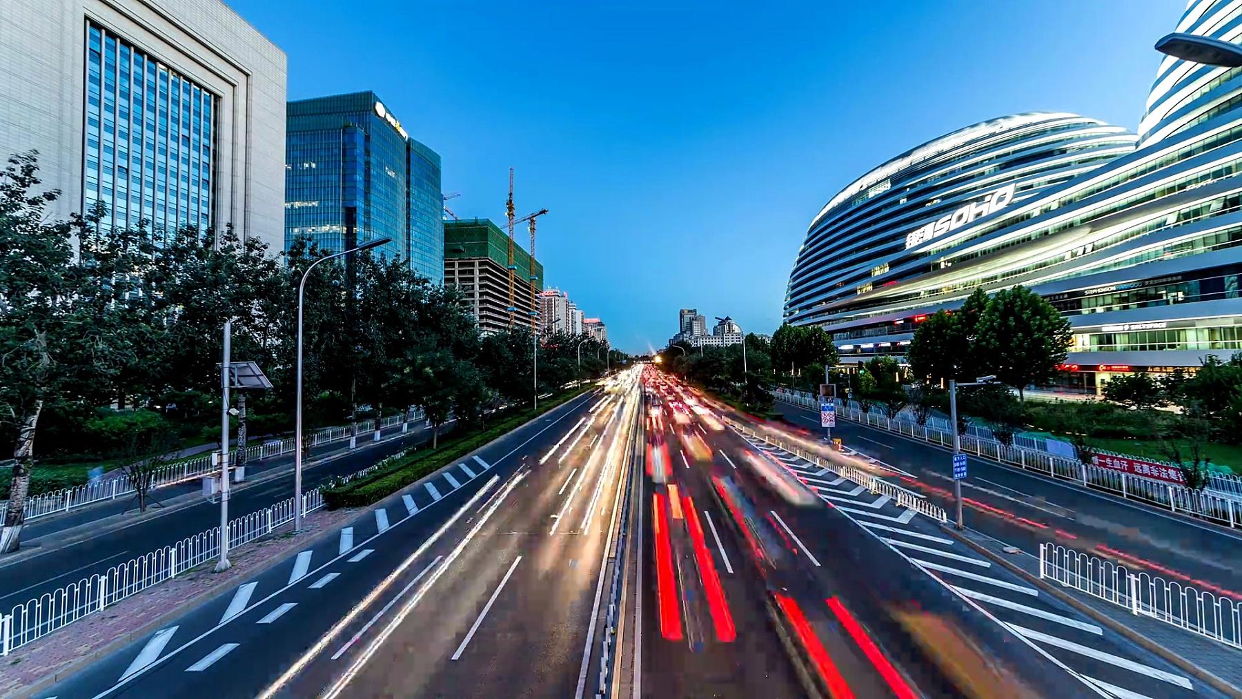 北京,城市快速路,延时,