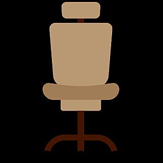 高质量人物插画-办公椅