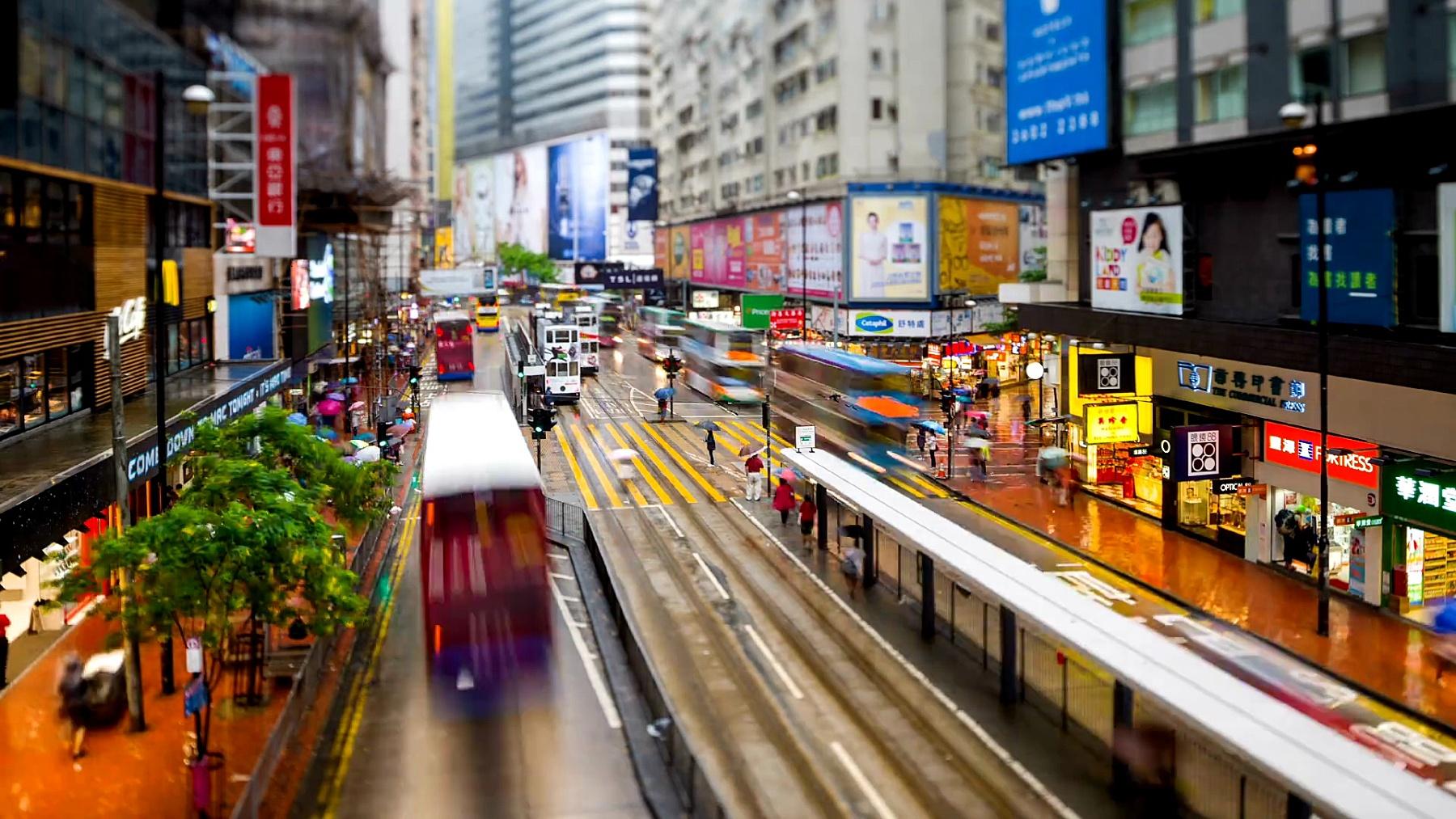 香港的街景