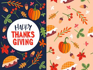 贺卡,幸福,矢量,节日,绘画插图,十月,边框,甜馅饼,白色