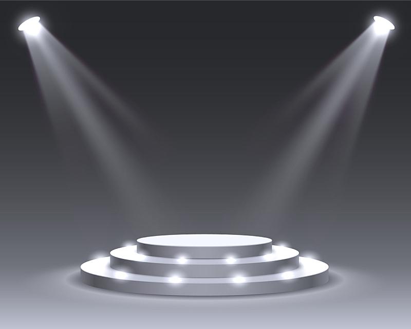 指挥台,舞台,景象,颁奖典礼,三维图形,商务,事件