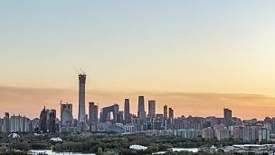 北京CBD日落时差