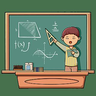 教师节手绘插画-讲课