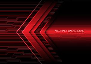 红色,光,抽象,电路板,能源,箭头符号,红色背景,黑色,指导