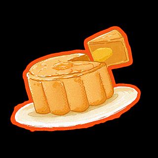 中国风插画-月饼