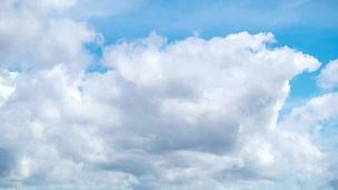 延时摄影的天空和云