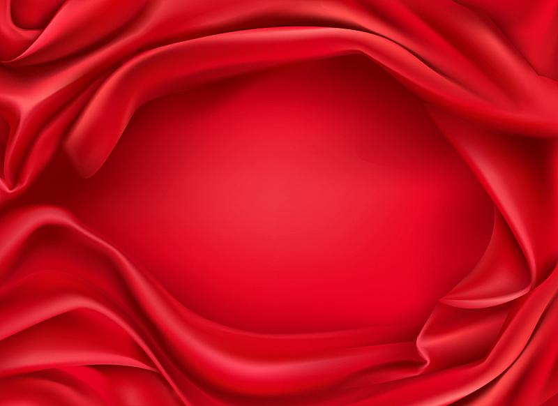 纺织品,丝绸,红色,背景聚焦,平视角,传单,华贵,浪漫,弯曲,写实