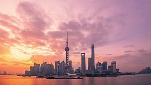 上海天际线日出