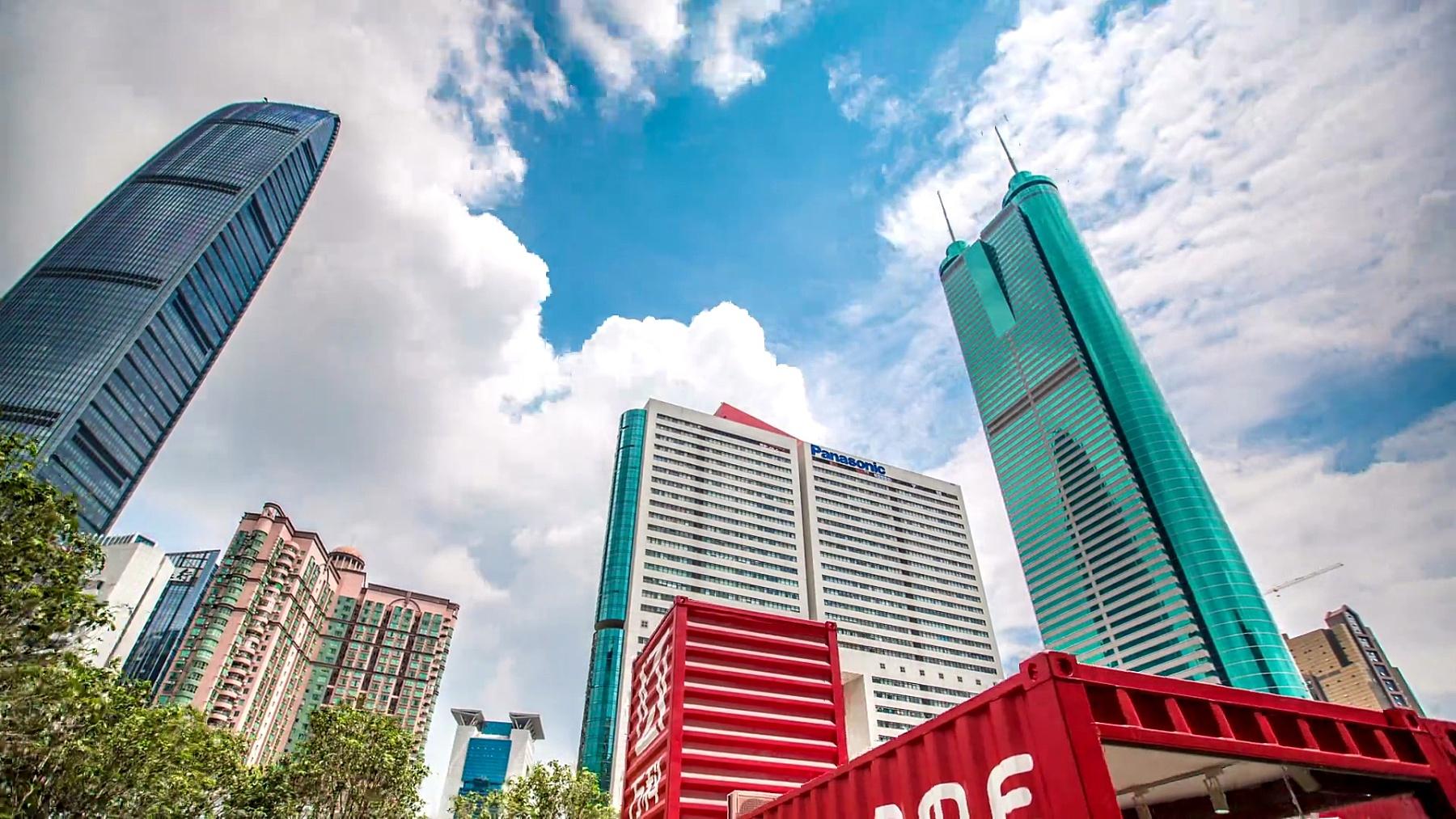 深圳最高建筑的Timelapse视频