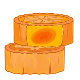 中秋节中国风插画-月饼