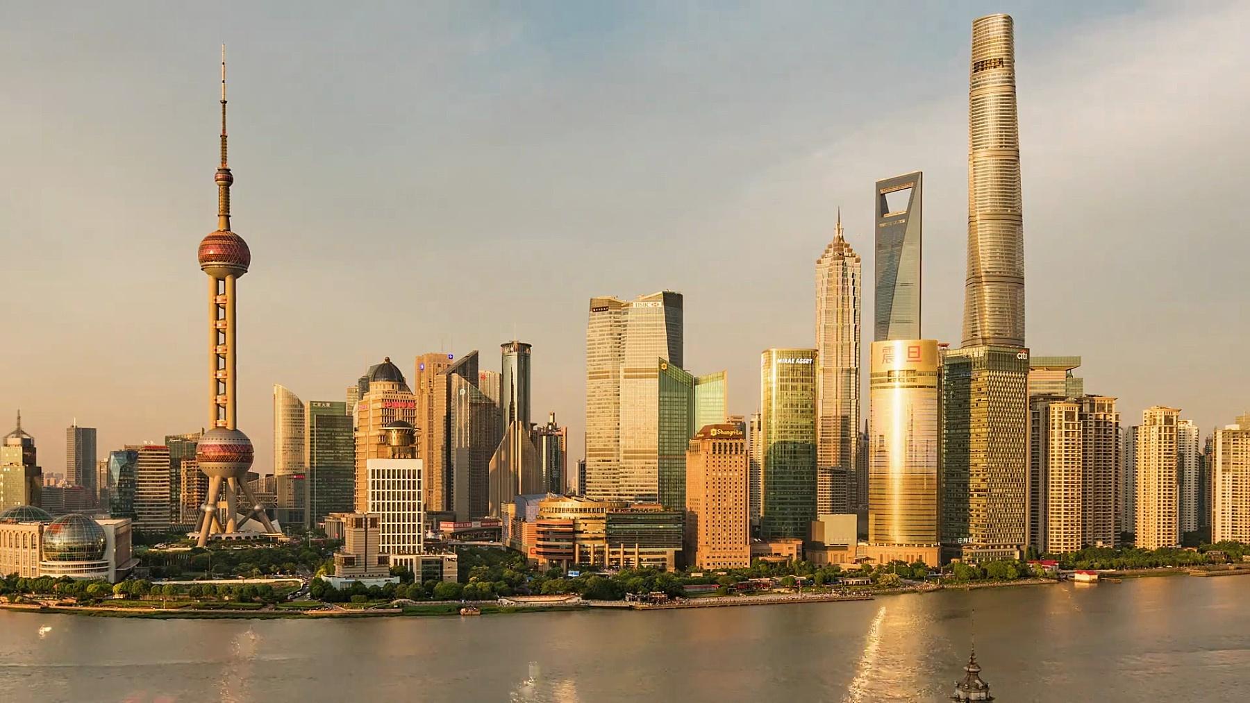 延时摄影上海天际线
