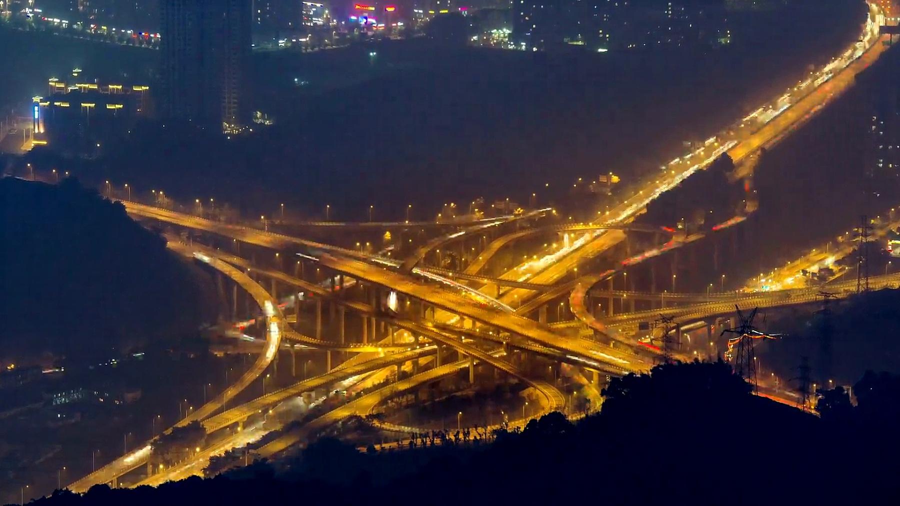 重庆夜间立交桥