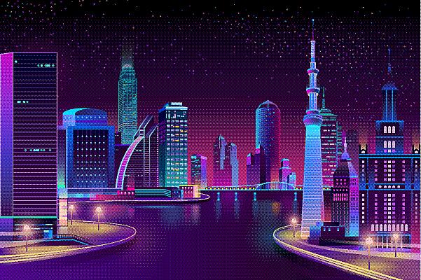 城市,河流,夜晚,矢量,商务,模板,现代,建筑业,户外,天空