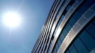 重庆现代抽象建筑与阳光