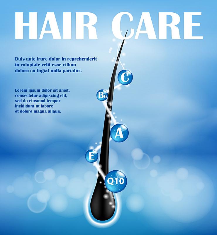 头发,香波,概念,式样,健康保健,皮肤病学,维生素,模板,毛囊,结束
