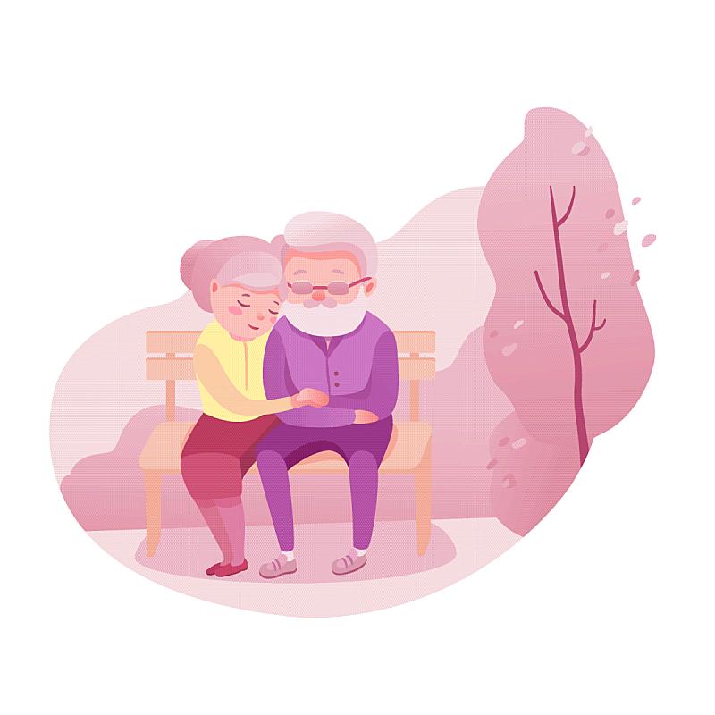 爱的,公寓,老年伴侣,老年人,深情的,丈夫,关爱,爱