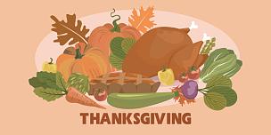 蔬菜,火鸡,秋天,农作物,快乐,白昼,叶子,传统,请柬