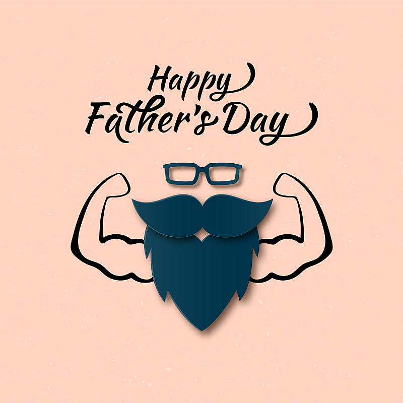 幸福,酷,父亲节,贺卡,华丽的,请柬,父母,传单,肖像,爱