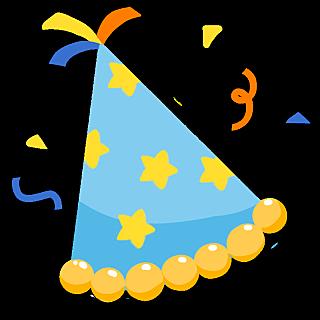 可爱手绘生日主题-生日帽